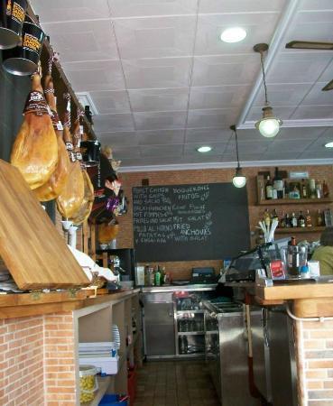 Restaurante Sancho Panza: bancone