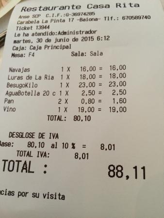 Байона, Испания: Tiker