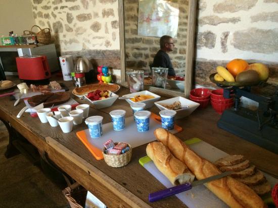 Le Clos de l'Aigue : Yummy breakfast