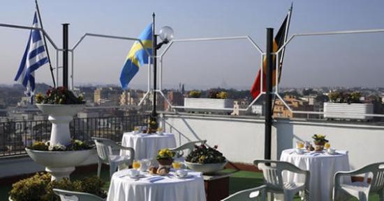 Grand Hotel Hermitage : TERRAZA