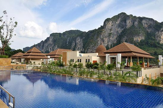 exterior picture of aonang cliff beach resort ao nang. Black Bedroom Furniture Sets. Home Design Ideas