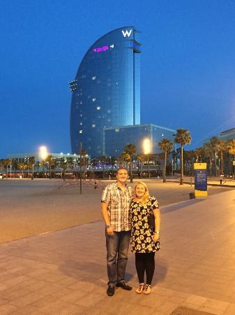 W Barcelona: Outside by the beach