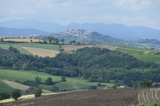 Colle San Giovanni: La vista sulla città di Todi