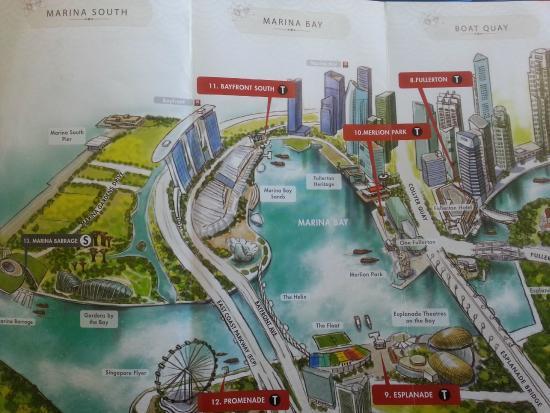 River Explorer Singapore- Day Tours: Vista 1.  Desde el Marina Barrage