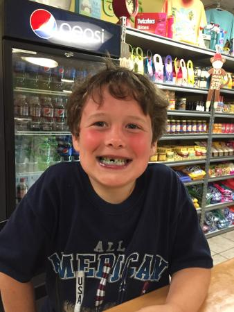 Two Scoops: My grandson had the Superman ice cream. Turned his mouth blue and made him very happy! Coffee wi