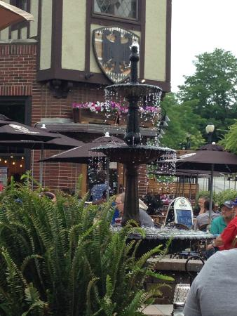 Cafe Hollander: Fountain on outdoor eating area!