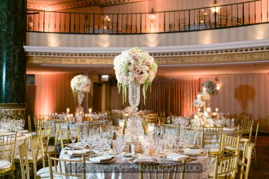 Intercontinental Chicago Magnificent Mile Hotel Wedding Reception Photo