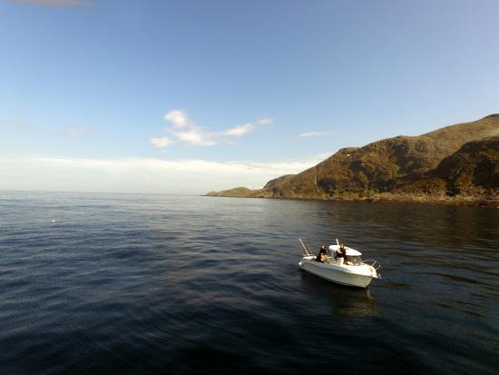 Fishing boat picture of nordkapp camping honningsvag for Fish camping boat