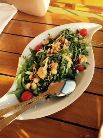 Konoba Galinac: Ruccolasalat mit Shrimps