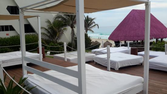 Outside Beds outside beds - picture of the pyramid at grand oasis, cancun