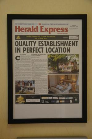 The Elmdene: They are even in the local press