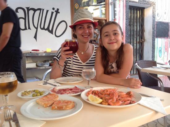 El Charquito: Блюда для жены и дочери