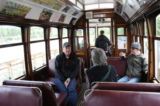 Waterfront Trolley: Comfortable seating.