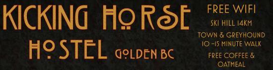 Kicking Horse Hostel: Hostel Logo