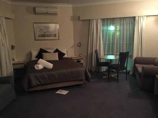 Hamiltons Townhouse Motel: Spacious room - bed with electric blanket!