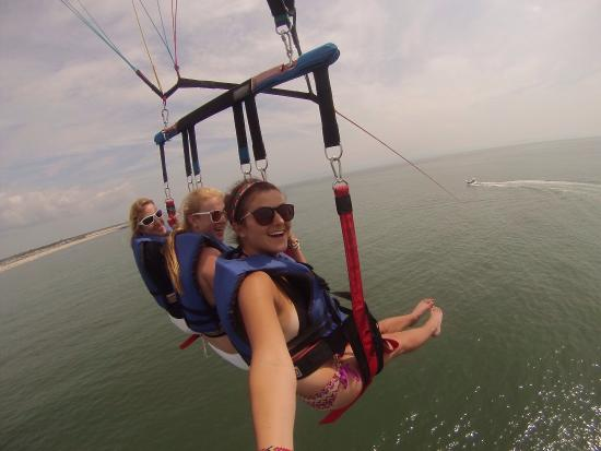 Point Pleasant, NJ: This was an amazing time. If you have never been parasailing, there is nothing to fear. Go there
