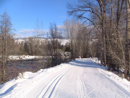 Winthrop Mountain View Chalets: Town Ski Trail