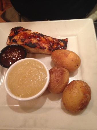 The Perk : Salmon with Honey Sirracha Glaze!