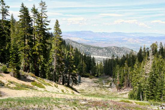 Tahoe Meadows Whole Access Interpretive Trail: Heavenly run NV side, Carson Valley view