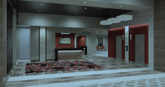 Coushatta Grand Hotel: Bellman Station and Elevators