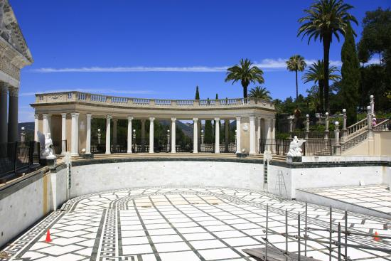 The empty neptune pool picture of hearst castle san - Hearst castle neptune pool swim auction ...