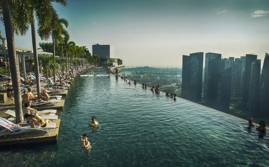 Marina Bay, Singapura: Pool side