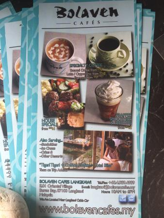 Bolaven Cafes Langkawi: 메뉴
