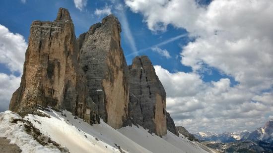 Dolomiti del Veneto, Italy: Le Tre Cime di Lavaredo viste dalla Forcella LAvaredo