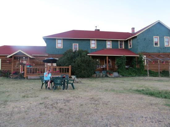 Chilcotin Lodge: de voorkant van de lodge