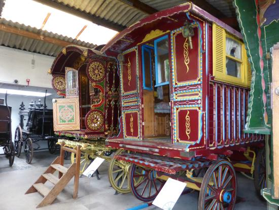 Hartlebury, UK: The gypsy caravans and there history.