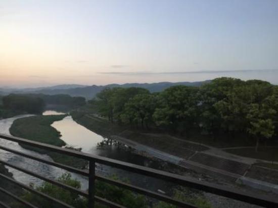Funagoya Onsen Hotel Higuchiken: 部屋からの朝焼け