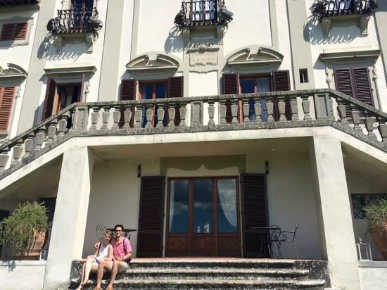 Villa  Vistarenni: Back of the Villa