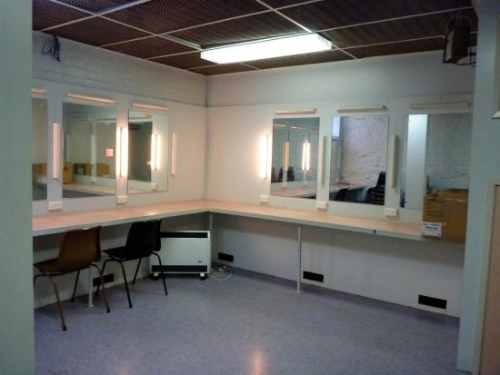 Theatre Royal: Basic yet functional dressing rooms below
