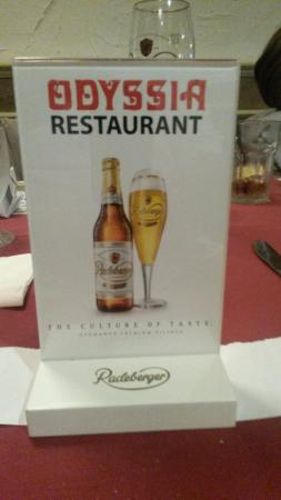 Odyssia Steak House: Beer Carte