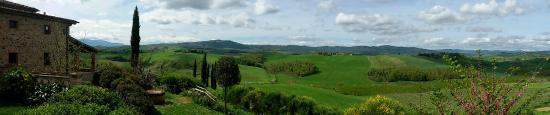 Buonconvento, Italia: vista da appartamento salix