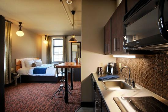 The Brewhouse Inn & Suites: A Studio Suite with a Full Kitchen