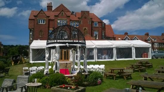 the wedding marquee picture of victoria hotel robin