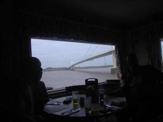 Beachley, UK: Mooi uitzicht vanuit het restaurant