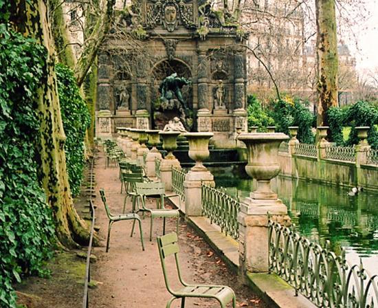 Paris, Fransa: fontaine des rencontres au jardin du Luxembourg