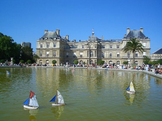Paris, Fransa: Bassin du jardin du Luxembourg