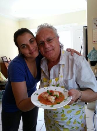 Vinny & Cheryl's Italian Kitchen : Cooking shrip scampi with my daughter Elizabeth