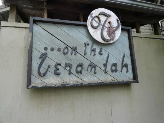 On the Veranda Restaurant : Outside sign
