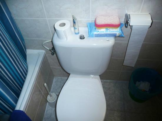 Hotel Estudios Tropicana: Toaleta