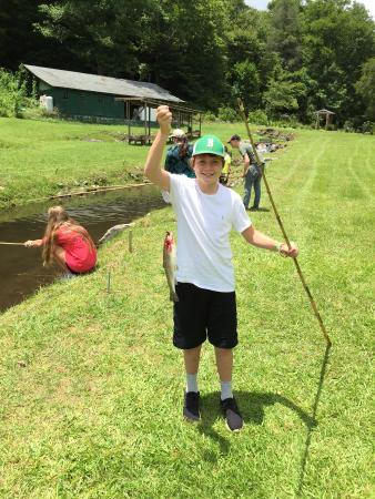Andy's Trout Farm: One of the many catches