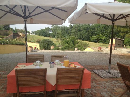 Agriturismo le Docce: Prets pour le petit déjeuner