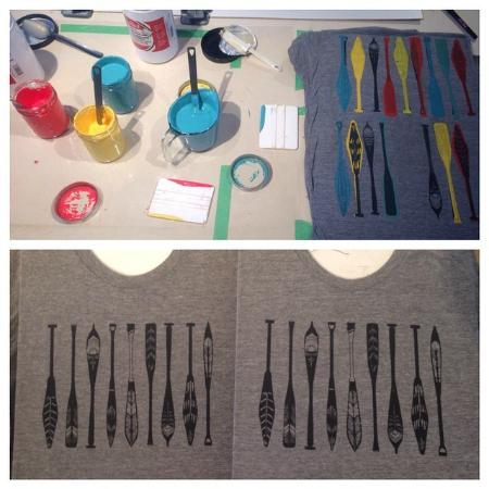 Ottawa, Kanada: We can often be found crafting in our shop studio. Scoop up one of our handmade tees!