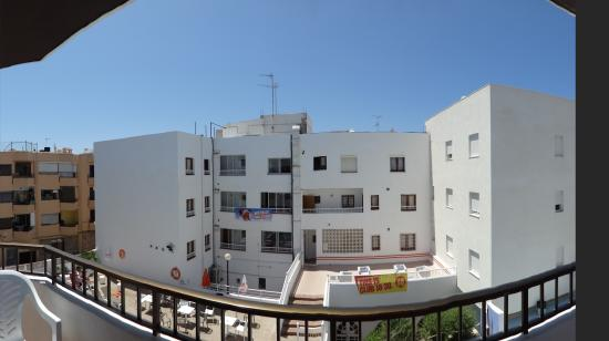 Laura S Atalaya: A view from our room's balcony.