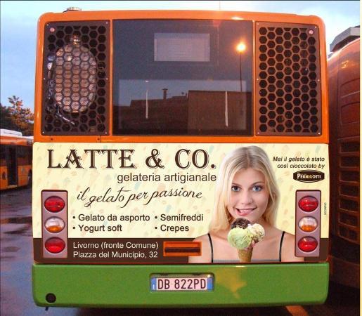 Gelateria Latte & Co.: Pubblicità su autobus