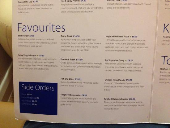 Holiday Inn Express Food Menu