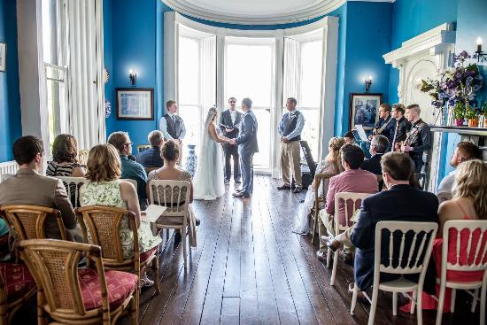 The Haven Hotel This Blue Room Is Perfect For A Wedding Cermony But Also